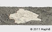 Shaded Relief Panoramic Map of Longzhou, darken