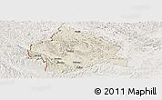 Shaded Relief Panoramic Map of Longzhou, lighten