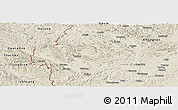 Shaded Relief Panoramic Map of Longzhou