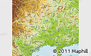 Physical Map of Guangxi