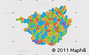 Political Map of Guangxi, cropped outside