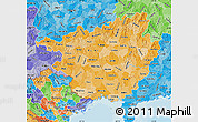 Political Shades Map of Guangxi