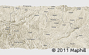 Shaded Relief Panoramic Map of Nandan