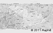 Silver Style Panoramic Map of Nandan