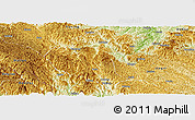 Physical Panoramic Map of Napo