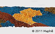 Political Panoramic Map of Napo, darken