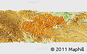 Political Panoramic Map of Napo, physical outside