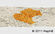 Political Panoramic Map of Napo, shaded relief outside