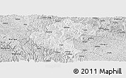 Silver Style Panoramic Map of Napo