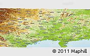 Physical Panoramic Map of Guangxi