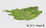 Satellite Panoramic Map of Guangxi, cropped outside