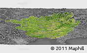 Satellite Panoramic Map of Guangxi, desaturated