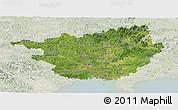 Satellite Panoramic Map of Guangxi, lighten