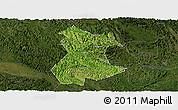 Satellite Panoramic Map of Pingguo, darken