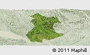 Satellite Panoramic Map of Pingguo, lighten