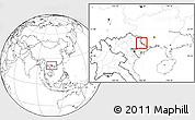 Blank Location Map of Pingxiang Shi