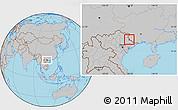 Gray Location Map of Pingxiang Shi