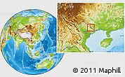 Physical Location Map of Pingxiang Shi