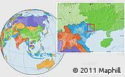 Political Location Map of Pingxiang Shi