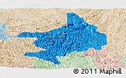 Political Panoramic Map of Tian E, lighten