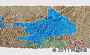 Political Panoramic Map of Tian E, semi-desaturated