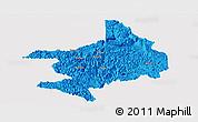 Political Panoramic Map of Tian E, single color outside