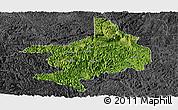 Satellite Panoramic Map of Tian E, darken, desaturated