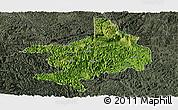 Satellite Panoramic Map of Tian E, darken, semi-desaturated