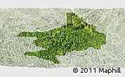 Satellite Panoramic Map of Tian E, lighten