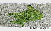 Satellite Panoramic Map of Tian E, lighten, semi-desaturated