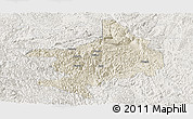 Shaded Relief Panoramic Map of Tian E, lighten
