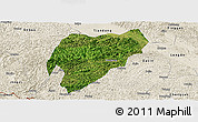 Satellite Panoramic Map of Tiandeng, shaded relief outside