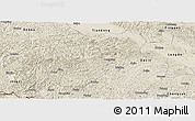 Shaded Relief Panoramic Map of Tiandeng
