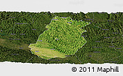 Satellite Panoramic Map of Tiandong, darken