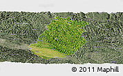 Satellite Panoramic Map of Tiandong, semi-desaturated