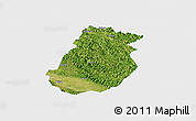 Satellite Panoramic Map of Tiandong, single color outside