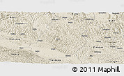 Shaded Relief Panoramic Map of Tiandong