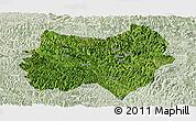 Satellite Panoramic Map of Tianlin, lighten