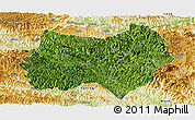 Satellite Panoramic Map of Tianlin, physical outside