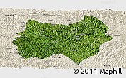 Satellite Panoramic Map of Tianlin, shaded relief outside