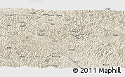 Shaded Relief Panoramic Map of Tianlin