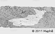 Gray Panoramic Map of Tianyang