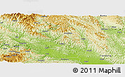 Physical Panoramic Map of Tianyang