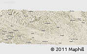 Shaded Relief Panoramic Map of Tianyang