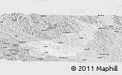 Silver Style Panoramic Map of Tianyang