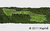 Satellite Panoramic Map of Xilin, darken