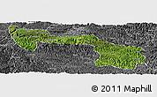Satellite Panoramic Map of Xilin, desaturated