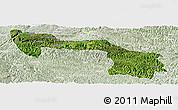 Satellite Panoramic Map of Xilin, lighten