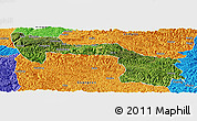 Satellite Panoramic Map of Xilin, political outside