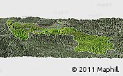 Satellite Panoramic Map of Xilin, semi-desaturated